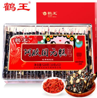 鹤王阿胶糕即食520g*3109元(折36.3元/件,双重优惠)