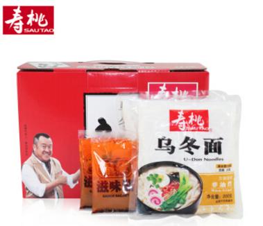 限地区:寿桃牌 非油炸 方便速食 乌冬面XO香辣酱(12包装)2700g    19.9元