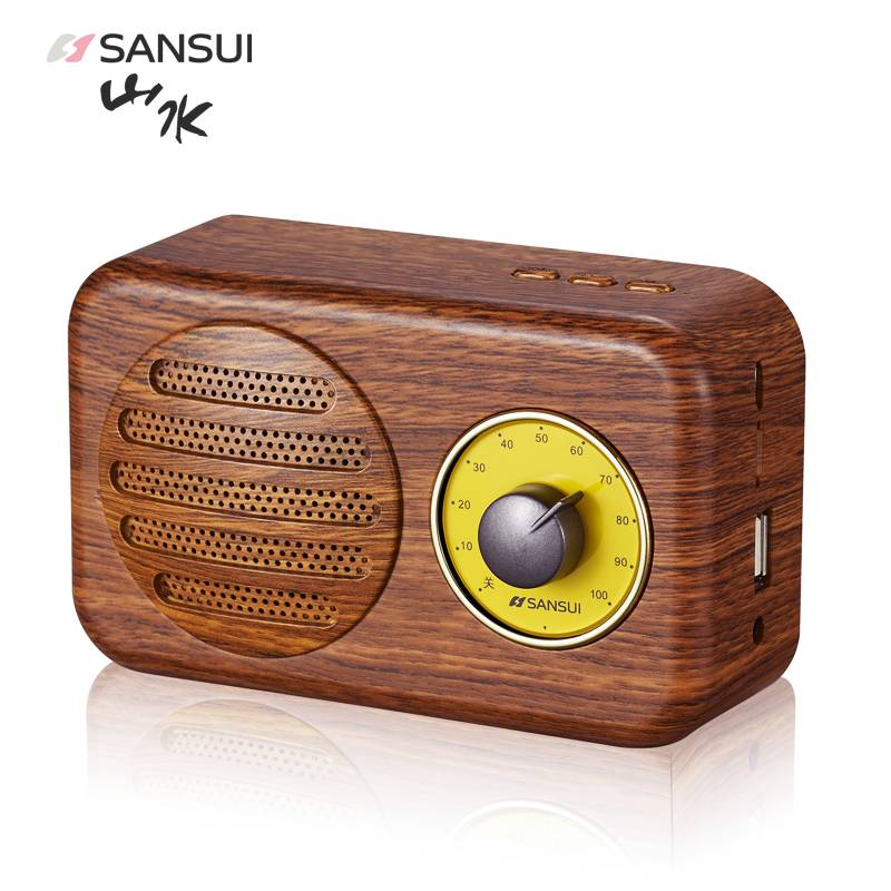 sansui 山水 t1 无线蓝牙复古音箱 三色