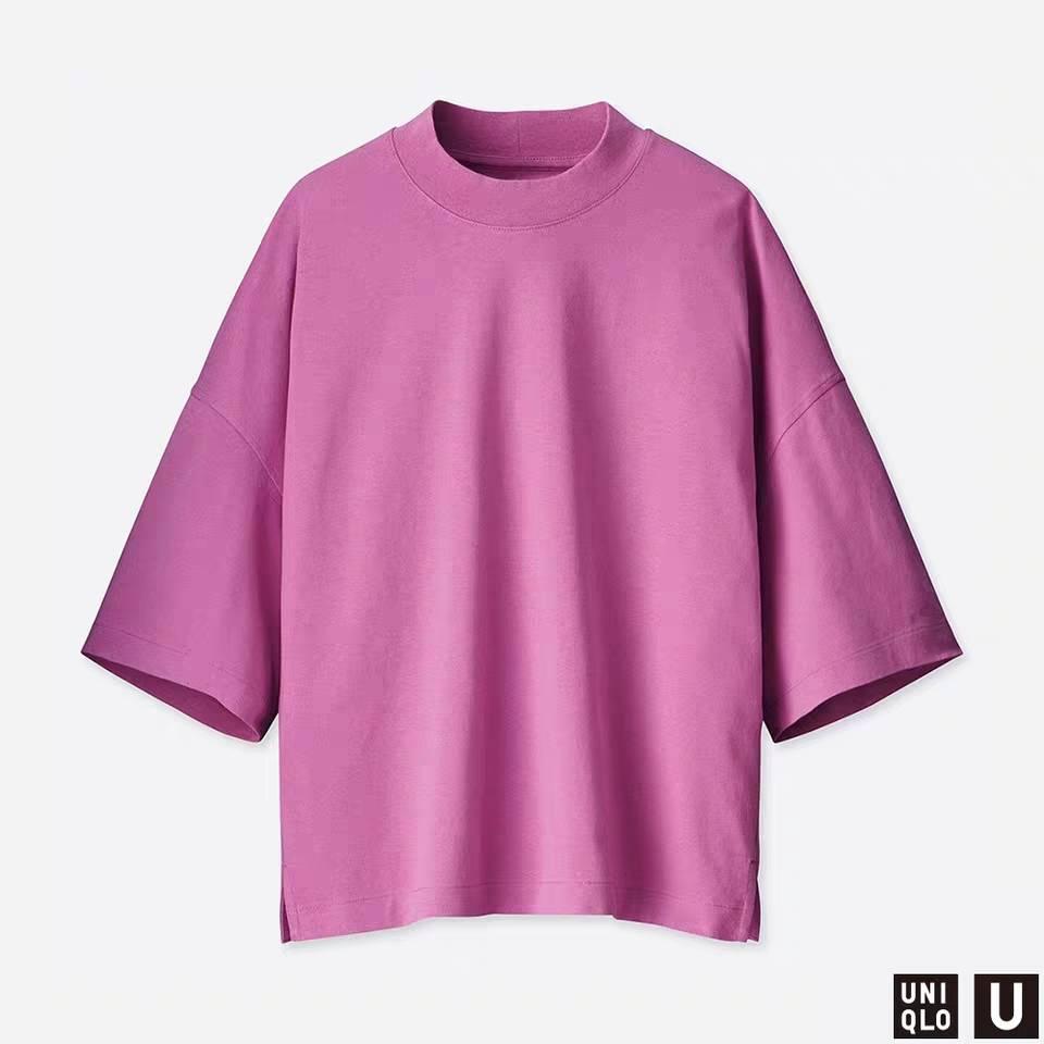 UNIQLO 优衣库 女装 宽松T恤(五分袖) 415797