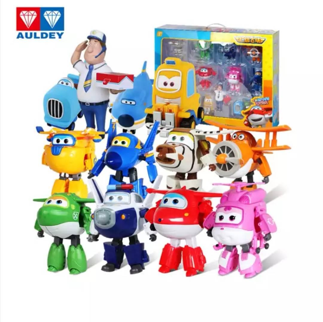 奥迪双钻(AULDEY)超级飞侠 益智玩具 DS710291 大变形家庭组合 12只装