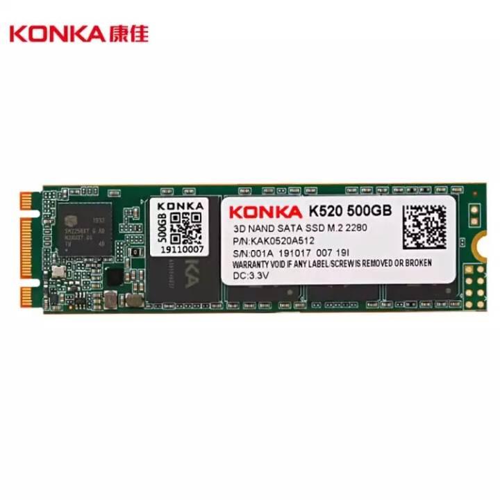 3日0点:KONKA 康佳 K520 500G SSD固态硬盘299元包邮(需用�唬�