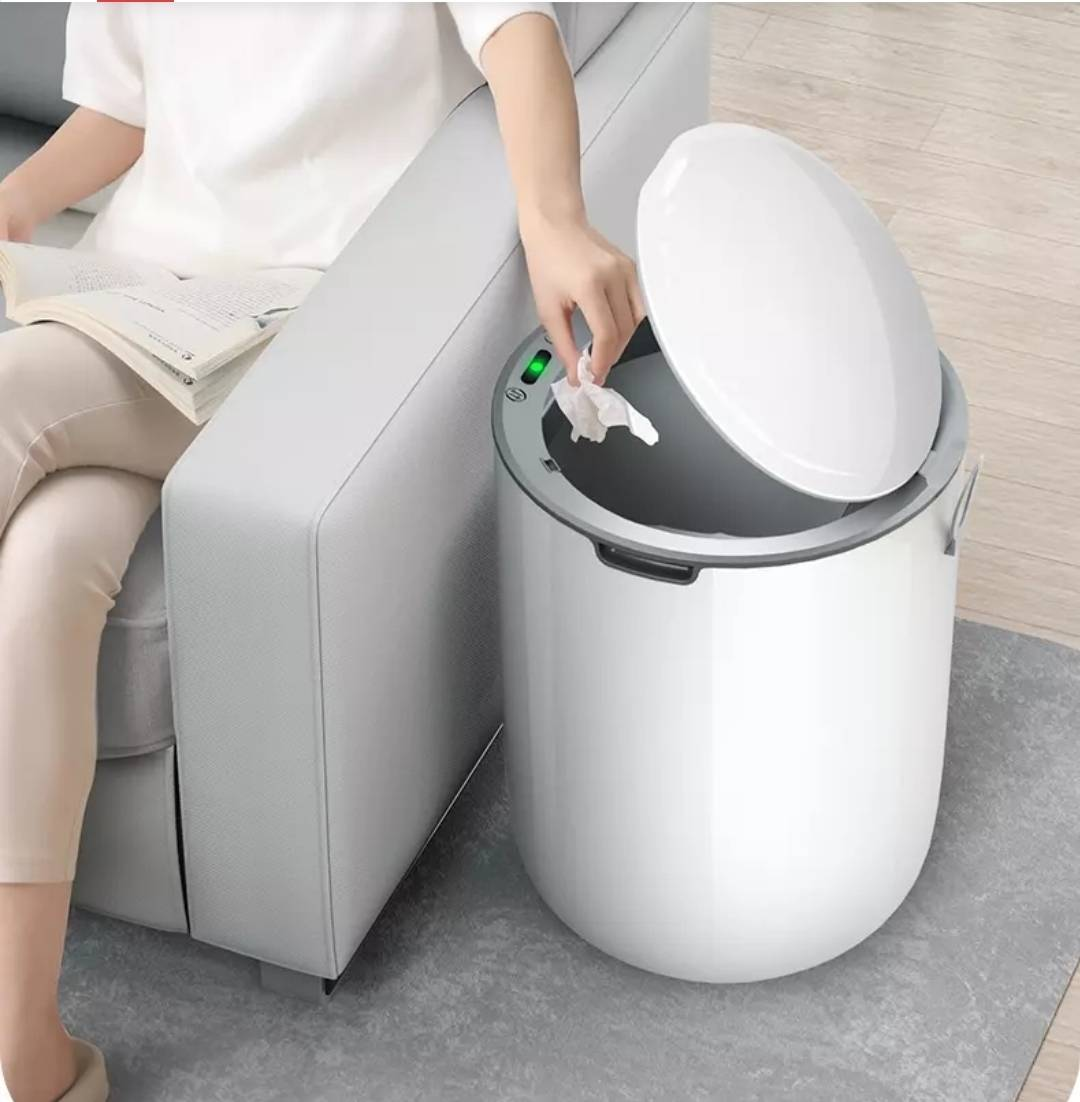佳帮手 智能感应 垃圾桶  圆形8L