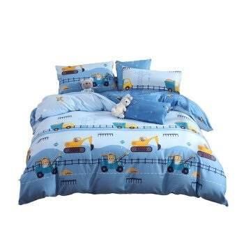 20点:MERCURY 水星家纺 挖掘机 纯棉床上四件套 1.5m    9.9元包邮(前1000件)