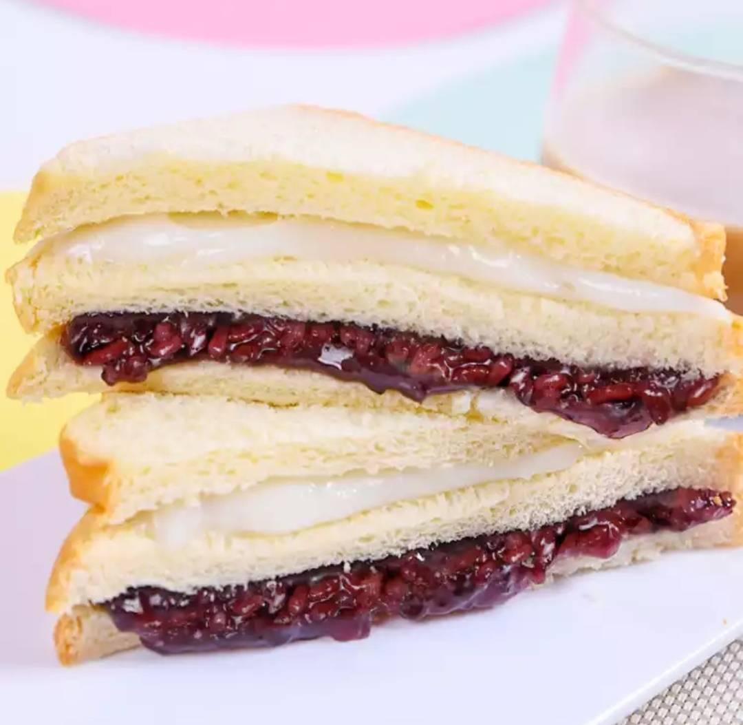 千丝 紫米面包 奶酪吐司 黑米切片 整箱500g7.9元包邮