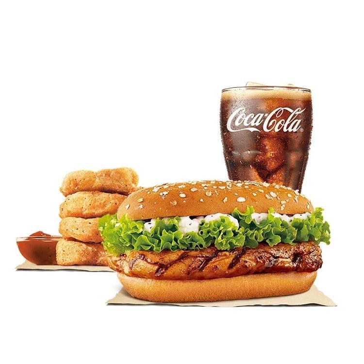 汉堡王 果木香单人餐 套餐 (三件套)    18元