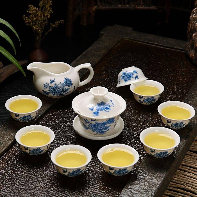 澜扬 10头8杯 盖碗茶功夫茶具套装7.9元包邮(需用券)