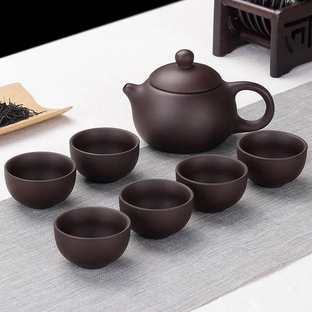 豹霖 功夫紫砂壶 茶具 7件套5.8元包邮(需用券)