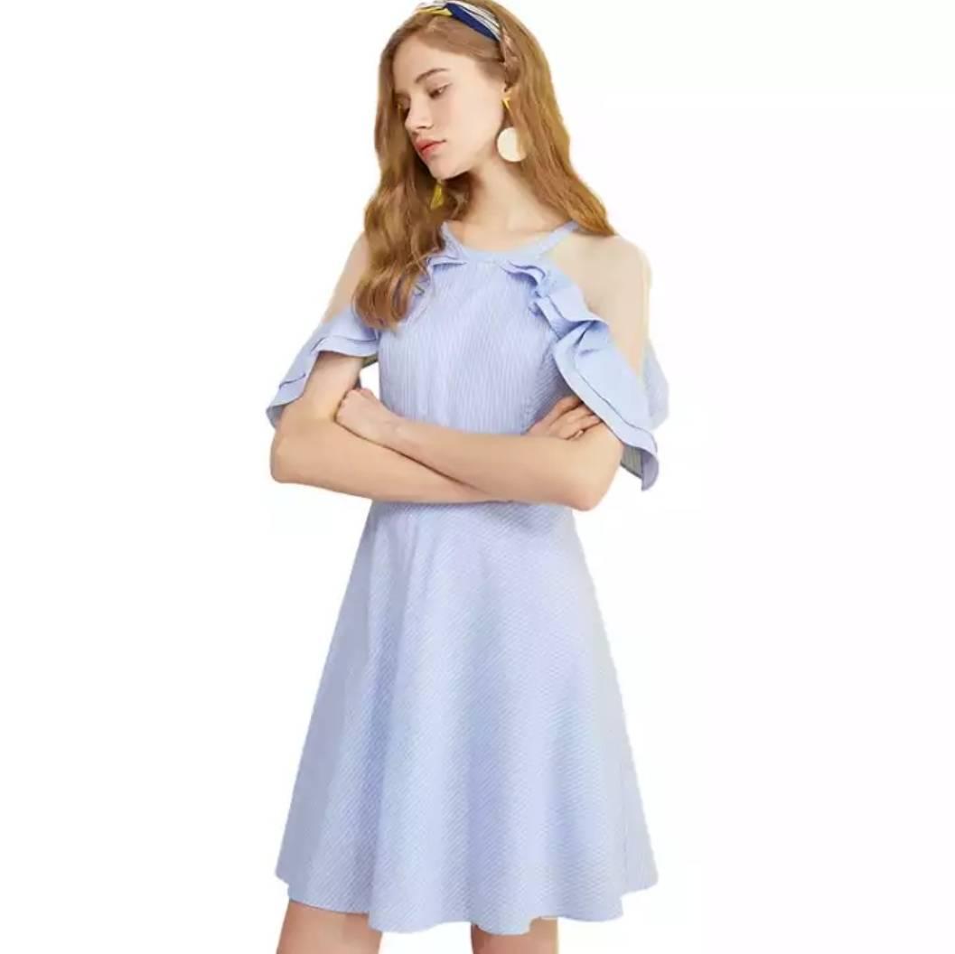 olrain 欧芮儿 女装 荷叶边连衣裙*2    220元包邮(双重优惠,110元/件)(慢津贴后106.48元)