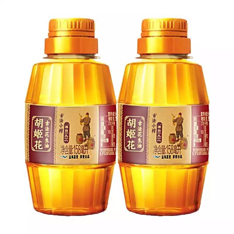 京喜APP:胡姬花 古法小榨 花生油 158ml*2瓶