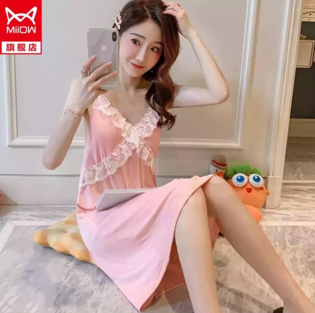 猫人MiiOW  夏季新款 韩版睡衣 性感吊带 睡裙    39.9元(需用券)(慢津贴后37.51元)