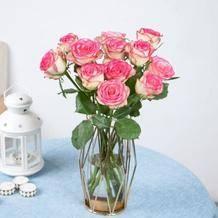 LINKINJOY 玫瑰鲜花 七夕礼物  玫瑰16枝赠4枝(单色随机)