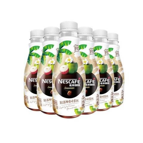 雀巢咖啡(Nescafe) 丝滑拿铁 轻荔椰青味 咖啡饮料 268ml*6瓶*2件
