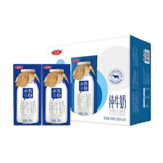 闭眼买、PLUS会员:三元 SAN YUAN 小方白纯牛奶 200ml*24盒 *2件 T精选    72.25元+运费券(需用券,合36.12元/件)(补贴后34.28元)