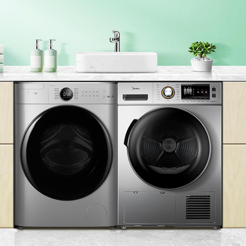 20日20点、双11预售:美的 洗烘套装 10kg滚筒洗衣机+9kg热泵烘干机 MG100V70WD5-Y1Y +MH90-H03Y YV5599元包邮(需定金)