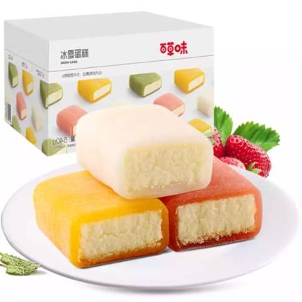 百草味 冰雪蛋糕 540g T精选