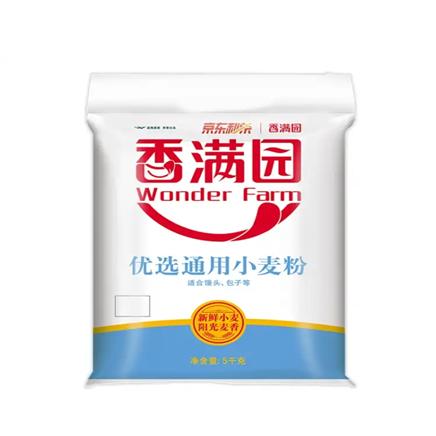 京东极速版:香满园 面粉 中筋面粉 优选小麦粉 5kg