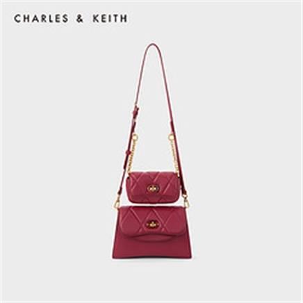 双11预售:CHARLES & KEITH CK2-20671191 女士单肩包 289.5元包邮(需定金40元)
