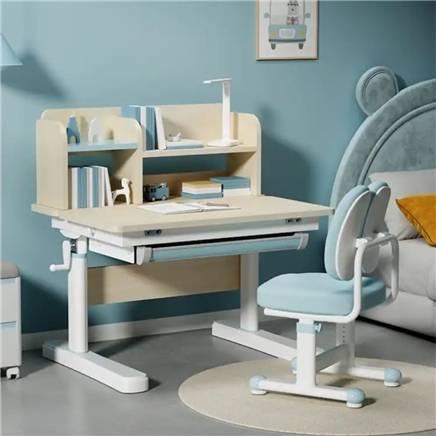 31日20点:京东京造 JD010SX-A-P1 儿童实木学习桌椅套装 双层书架 80cm 699元包邮