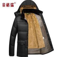 金格瑞 中年男士加绒棉衣外套