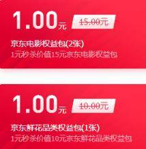 优惠券:京东白条免息券、权益包 1元起