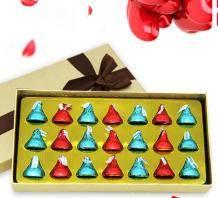 kisses好时之吻巧克力礼盒装21粒24.9元(券后)