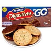 Mcvitie's 麦维他 全麦粗粮酥性巧克力消化饼干 6袋 199.8g 9.9元(99选10件)