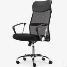 PLUS会员:伯力斯 电脑椅 家用办公椅 转椅 MD-086 黑色