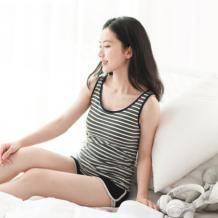 限尺码: 网易严选 女式皮马棉条纹背心9.9元