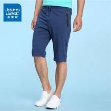 最后库存:真维斯 男子夏棉质中裤19.9元,长期60元