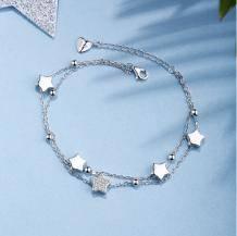 Silverage 银时代 925银 星星双层手链*3件260.9元包邮(需用券)