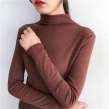 皇媚 韩版高领纯色修身打底衫 13.9元包邮(需用券)