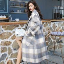 王占祺 女士羊毛羊驼绒混纺大衣 298元包邮(需用券)