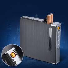 zippo 自动弹烟盒20支装 USB充电点烟器