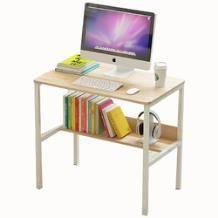 PADEN 带层架电脑桌 白花 80*50cm73.9元包邮