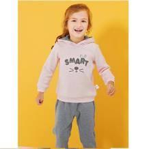 巴拉巴拉 女幼童防风保暖长袖套装 89元