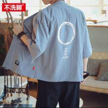 不洗脚先生 男式中国风道袍防晒衣 38元包邮(需用券)