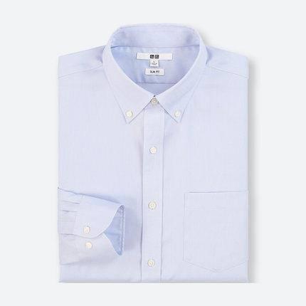 冰点价:优衣库 男子精纺弹力牛津纺衬衫 79元,日常199元