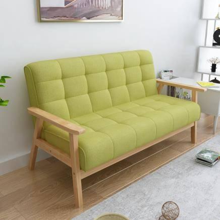 历史低价:择木宜居 小户型沙发 草绿色(麻布)双人位    399元包邮(需用券)