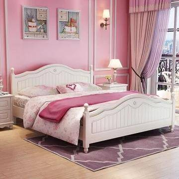 A家家具 韩式实木床 1.8米 944.3元包邮