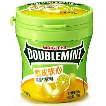 DOUBLEMINT 绿箭 脆皮软心薄荷糖 80g*2件 折7.04元/件