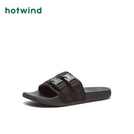 限尺码:hotwind 热风 H62M9610 男士休闲一字拖 43元包邮