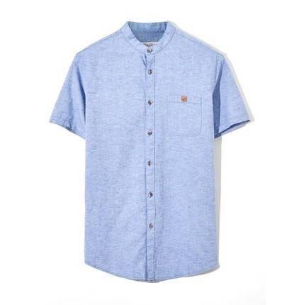卖完下架:海一家 男式夏季棉麻衬衫