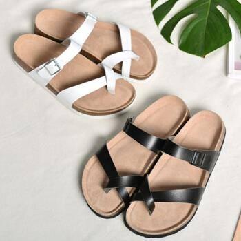 严选 情侣绕趾式夏季拖鞋