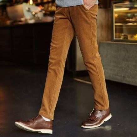 反季特卖:Tonlion 唐狮 男士灯芯绒直筒休闲裤