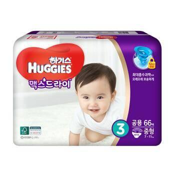 神价格:韩国好奇(Huggies) 铂金装升级款 M66片 7-11kg价格下方领券+2件5折