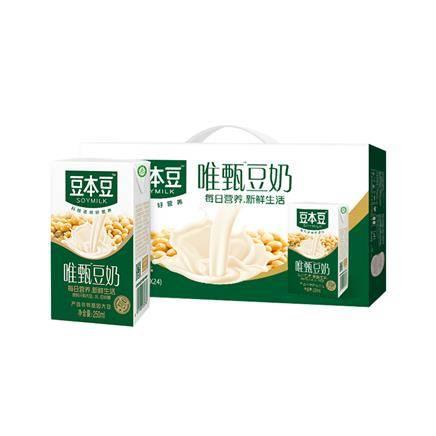 豆本豆豆奶唯甄豆奶原味250ml*24盒/整箱 *3件    64.85元包邮(2件5折,合21.61元/件)