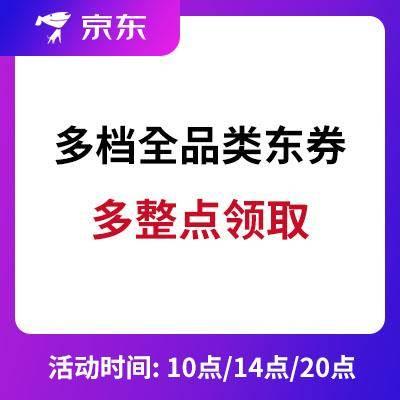 京东:全品类东券 106-6/500-25/1000-30 多整点领取 需助力成团分享