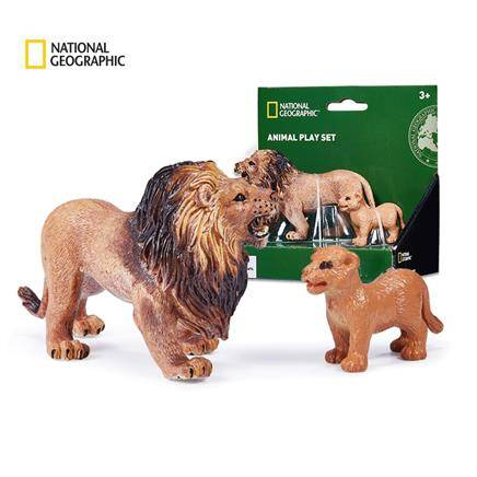 wenno 国家地理正版 野生动物模型仿狮子老虎模型玩具