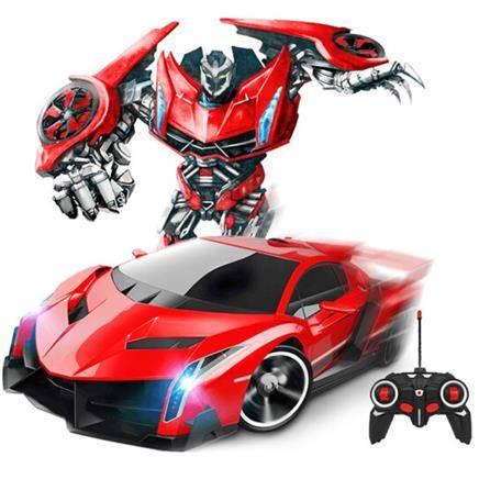哈比天才 1:18儿童遥控车变形机器人玩具